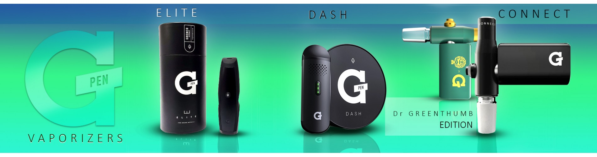 G-Pen Vaporizers, Elite, Dash and Connect