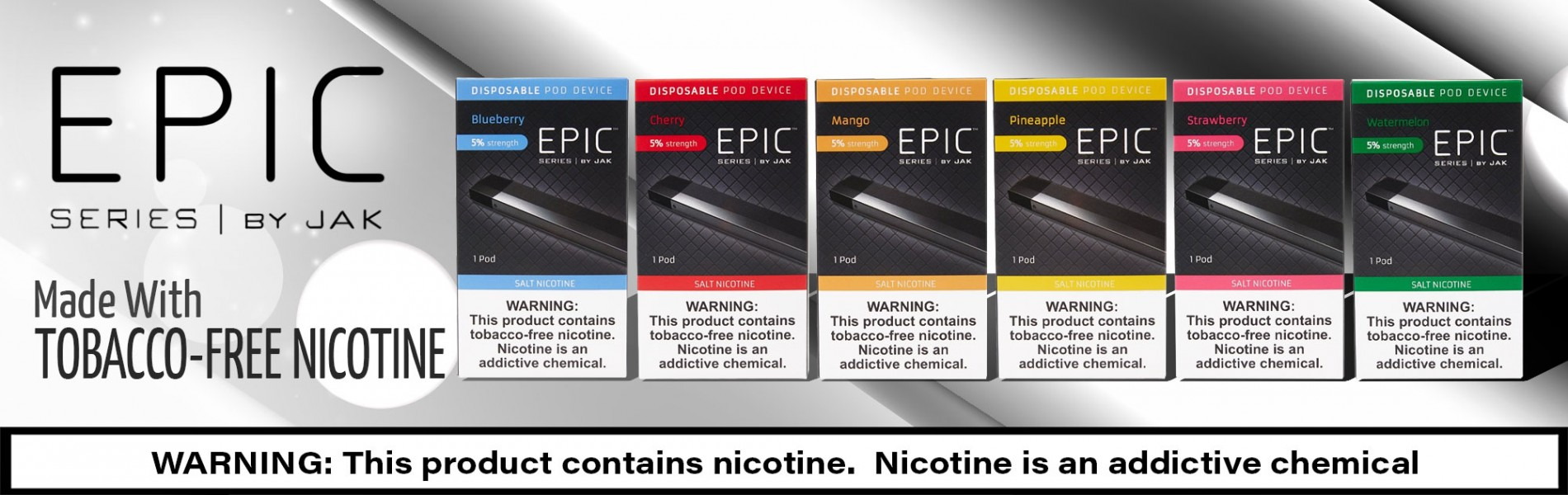 Epic Disposables, Made From Tobacco-Free Nicotine