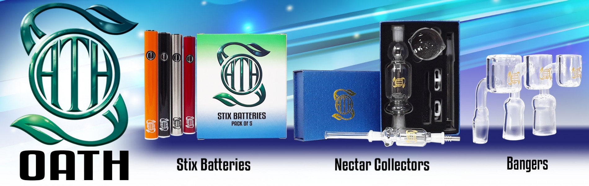 Oath Brand Products - Stix Batteries and Nectar Collectors