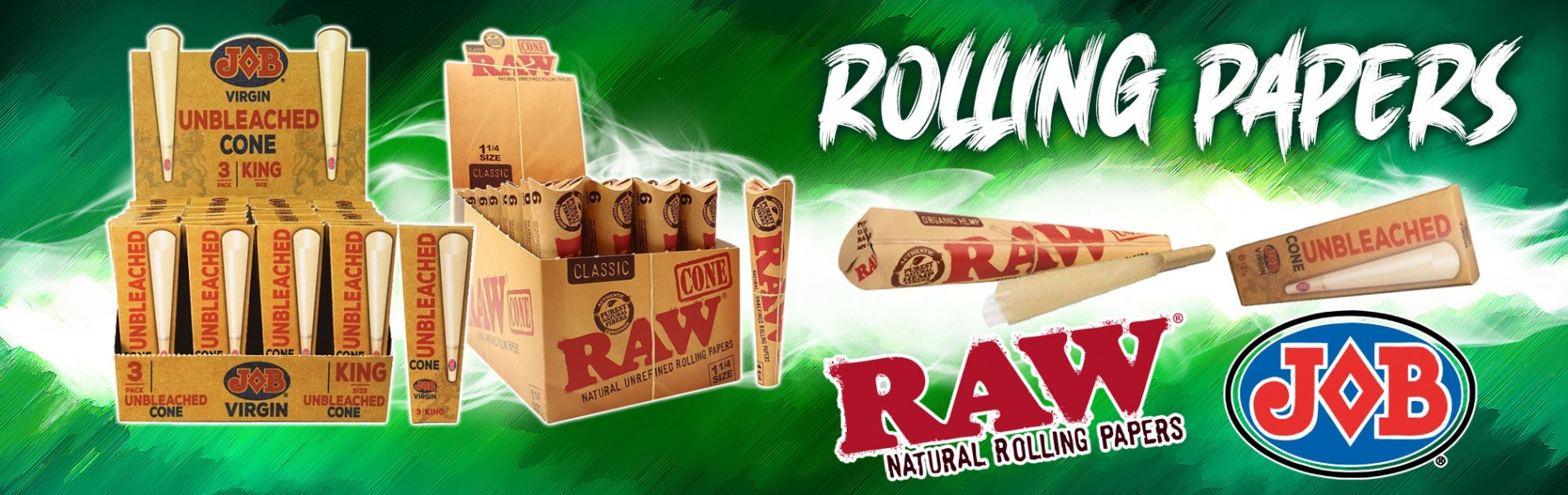 Raw and Job Rolling Paper Cones