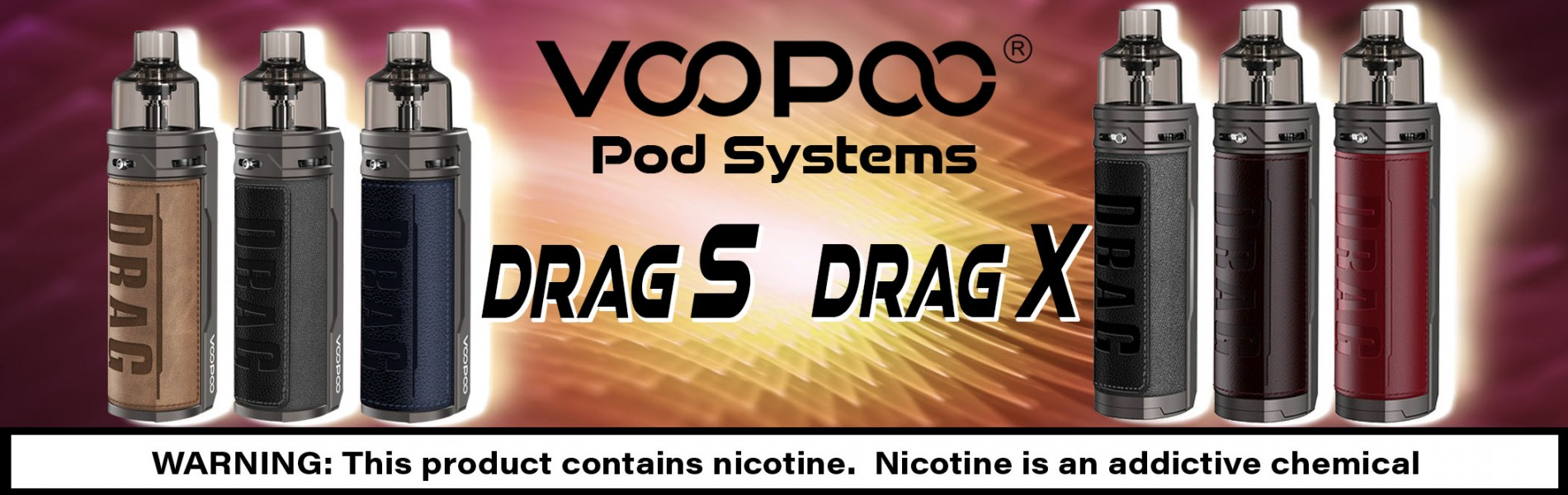 Voopoo Drag S, Voopoo Drag X Pod Systems