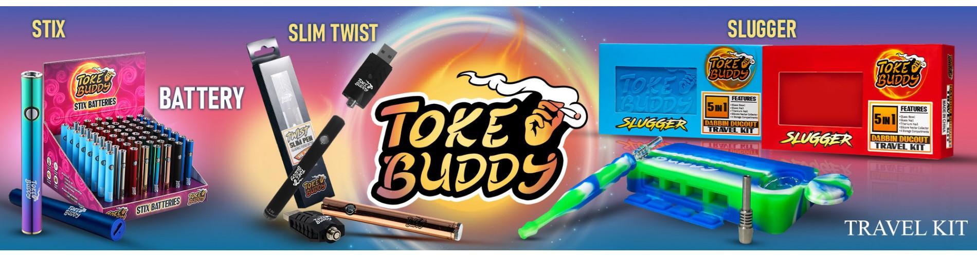 Toke Buddy Products, Stix BatterIes, Slim Twist Batteries, and Slugger Dabbin Dugout Kit