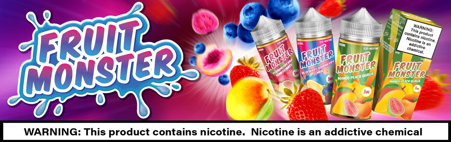 Fruit Monster E-Juice, Freebase and Salt-Nic