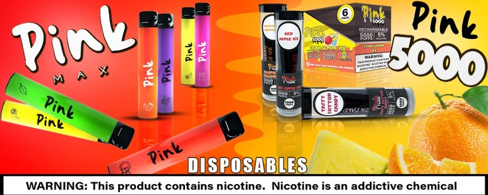 Pink Max and Pink 5000 - the Finest Disposable Vapes on the Market!