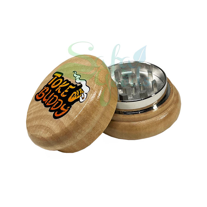 Toke Buddy Wooden Grinders 55mm 2 Stage 12pc