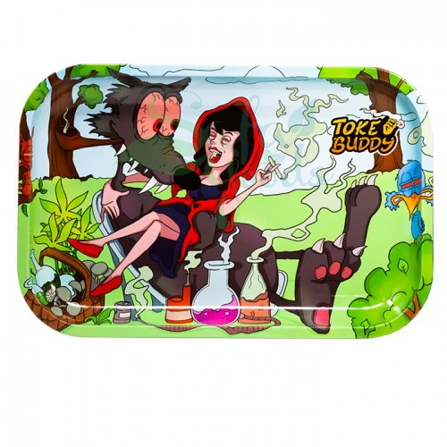 Toke Buddy Metal Rolling Tray | Riding Hood