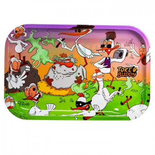 Toke Buddy Metal Rolling Tray | Birds