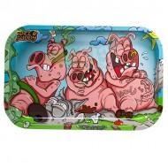 Toke Buddy Metal Rolling Tray | Three Pigs