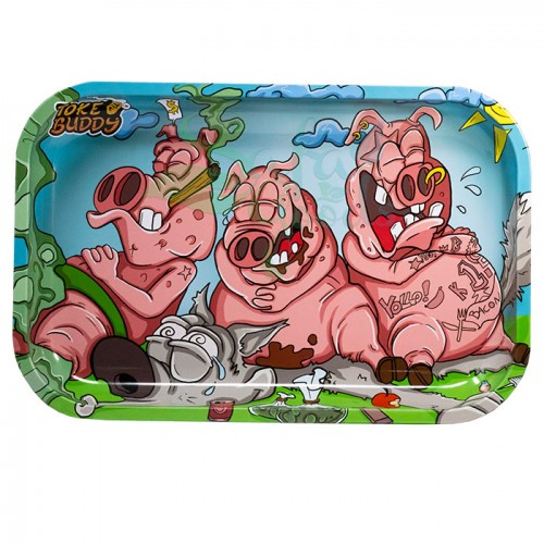 Toke Buddy Metal Rolling Tray | Three Pigs