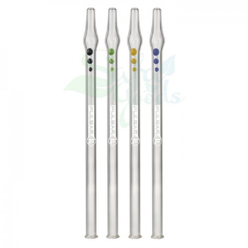 10 Inch Pulsar Glass Vapor Straw Various Colors