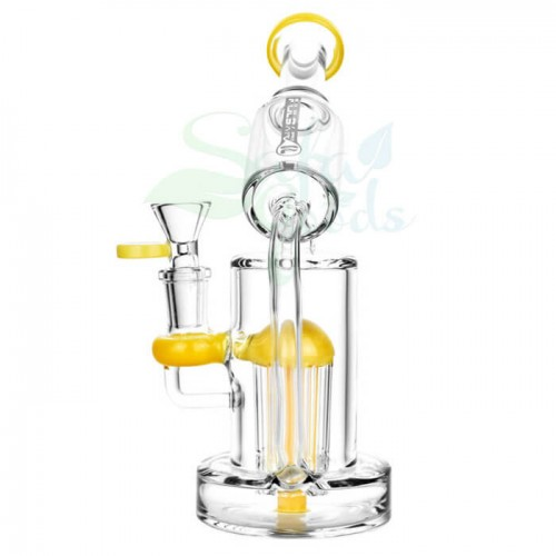 7.5 Inch Pulsar Side Oil Recycler 14mm Female Water Pipe