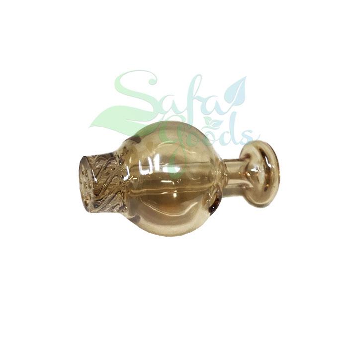 Glass Carb Cap - Amber Iridescent Bubble