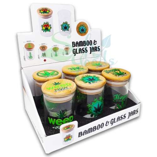 Air Tight Glass Jars with Bamboo Lids - Single