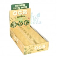 OCB Bamboo Rolling Papers 24CT Display Box