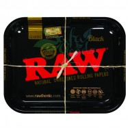 Raw Metal Rolling Tray | Black