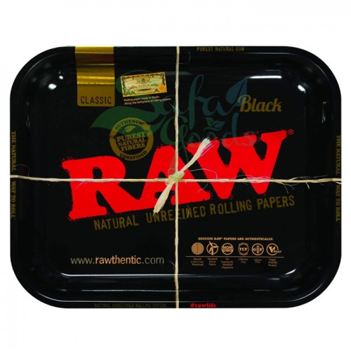 Raw Metal Rolling Tray | Black