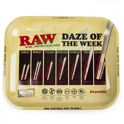 Raw Metal Rolling Tray | Daze