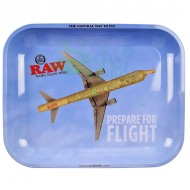 Raw Metal Rolling Tray | Flying