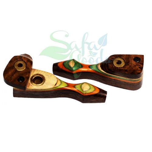 3.5 Inch Wood Pipes 2pc