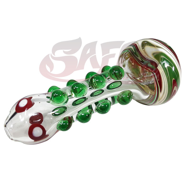 4 Inch Glass Hand Pipes - Wig-Wag and Bumps