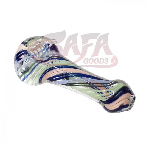 3 Inch Glass Hand Pipes - Linework