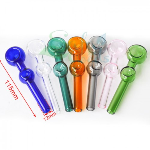 4.5 Inch Glass Hand Pipe with Bubble Grip