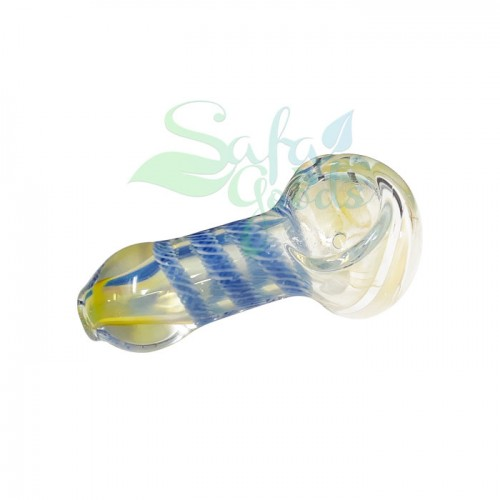 2.5 Inch Glass w/ fume and cane Handpipe