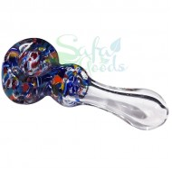 4 Inch Clear Glass w/ Cane and Maria Handpipe