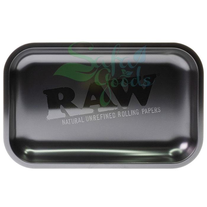 Raw Metal Rolling Tray   Black Matte