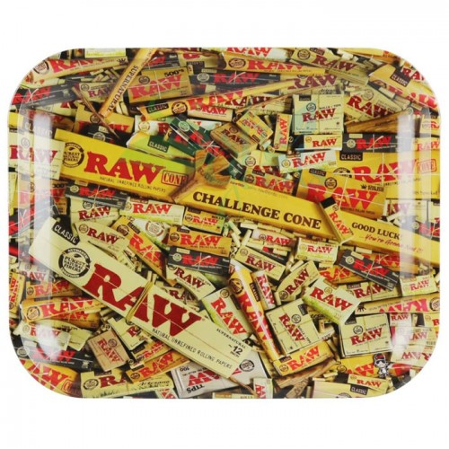 Raw Metal Rolling Tray | Mixed