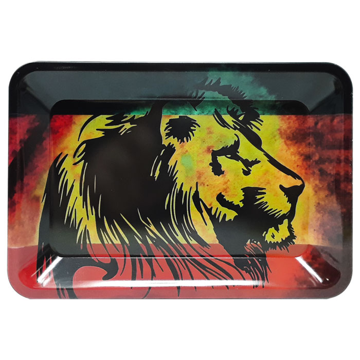 Small Metal Rolling Tray | Jah Lion