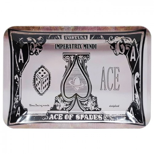 Small Metal Rolling Tray | Ace of Spades (Various)