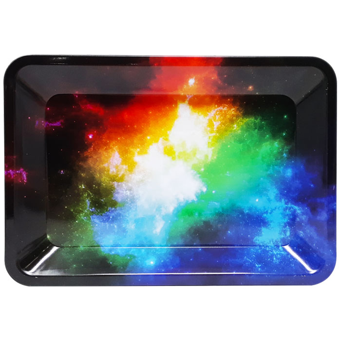 Small Metal Rolling Tray | Galaxy (Assorted)