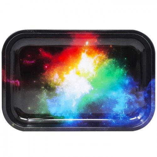 Medium Metal Rolling Tray | Galaxy (Assorted)
