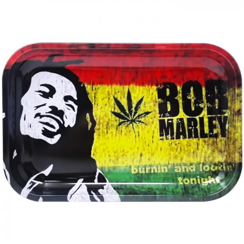 Medium Metal Rolling Tray | Rasta Man