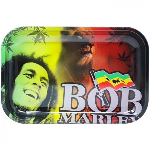 Medium Metal Rolling Tray | Rasta Lion