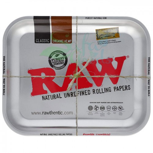 Raw Metal Rolling Tray | Silver