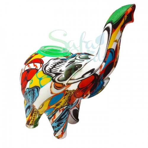 4.5 Inch Silicone Elephant Hand Pipe