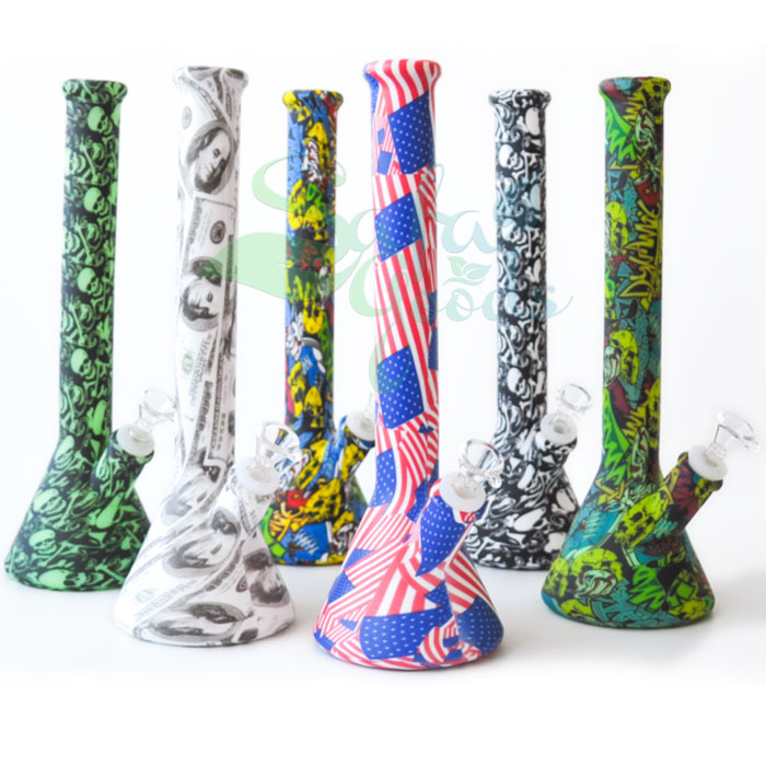 12 Inch Silicone Beaker Water Pipe