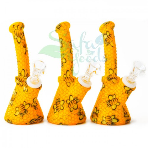 6.5 Inch Bent Neck Silicone Beaker Water Pipe