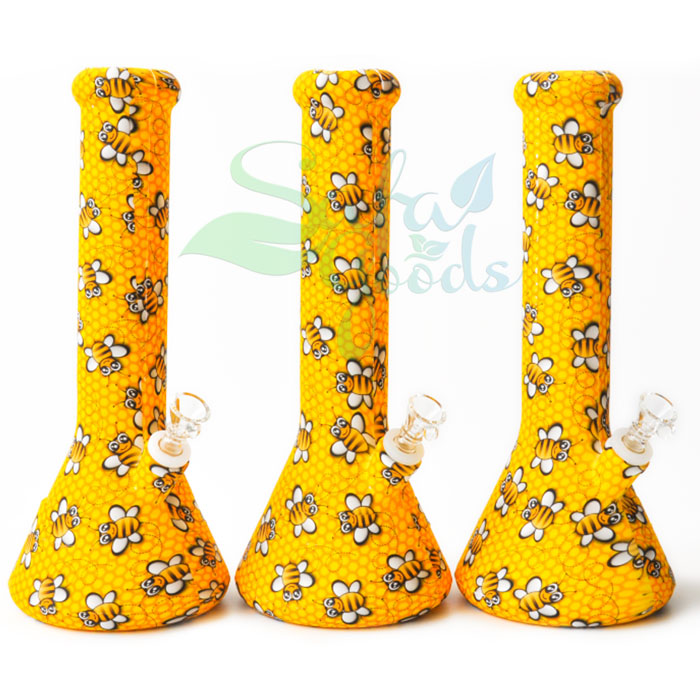 12 Inch Silicone Beaker Ice Catcher Water Pipe