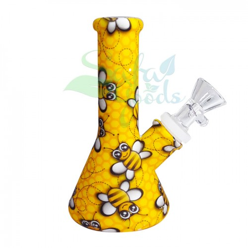 5 Inch Silicone Beaker Water Pipe