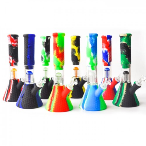 10.5 Inch Silicone Beaker Water Pipe