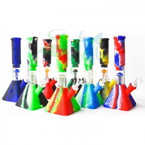10.5 Inch Silicone Pyramid Water Pipe