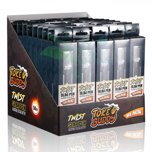 Toke Buddy Slim Twist Batteries - 50pc Box