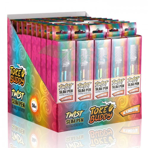 Toke Buddy Slim Twist Batteries - 50pc Box