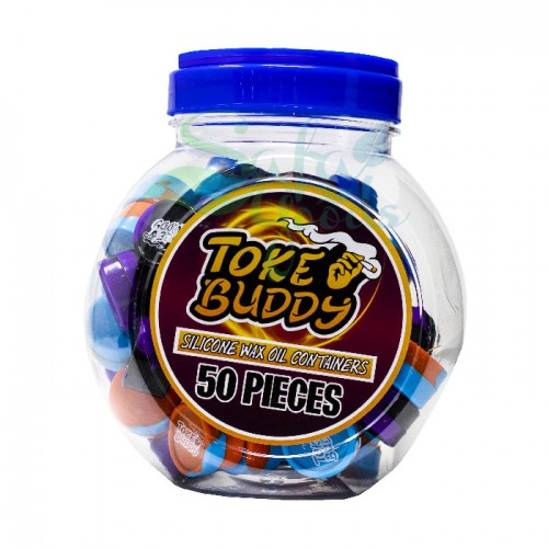 Toke Buddy Silicone Jar Containers 50PC