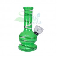 5 Inch Rubber on Glass Water Pipe Various Colors
