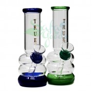 5 Inch TRUE Rubber on Glass Water Pipe