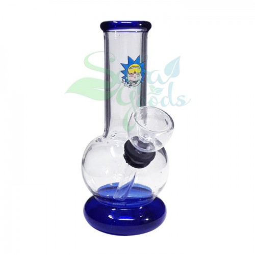 5 Inch Rubber on Glass Water Pipe
